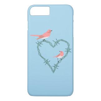 有刺鉄線のハートの鳥 iPhone 8 PLUS/7 PLUSケース