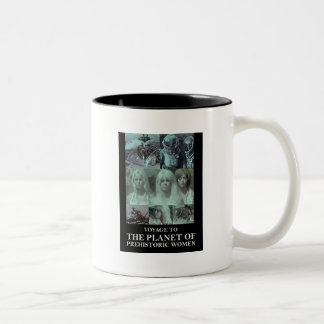 有史以前の女性のギアの惑星への旅行 ツートーンマグカップ