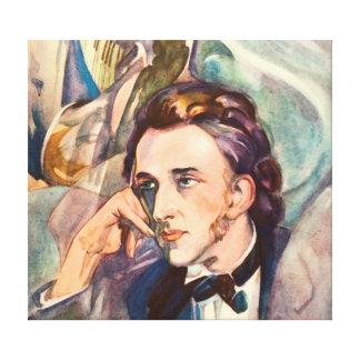 有名なフレデリックショパン作曲家のミュージシャンのポートレート キャンバスプリント