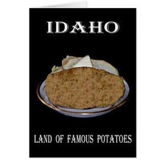 """有名なポテトのアイダホ""""土地""""。 カード"""