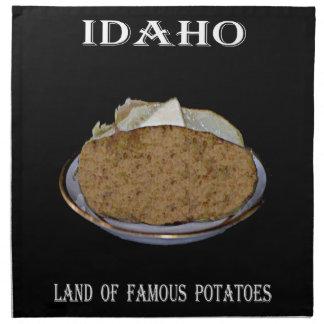 """有名なポテトのアイダホ""""土地""""。 ナプキンクロス"""