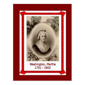 有名な人々、マーサワシントン州; 1731-1802年 ポストカード