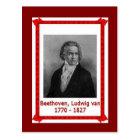 有名な人々、ルートヴィヒ・ヴァン・ベートーヴェン170-1827 ポストカード