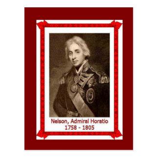 有名な人々、Horatioネルソン1758-1805年海軍大将 ポストカード