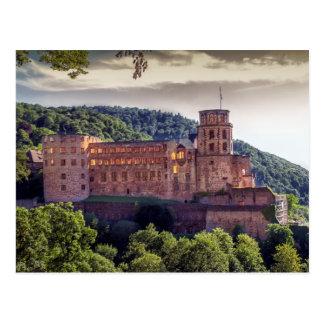 有名な城の台なし、ハイデルベルク、ドイツ ポストカード