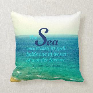 有名な海の引用文のジェイクスCOUSTEAUの枕 クッション