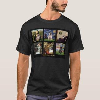 有名な芸術のパグ合成#1 Tシャツ