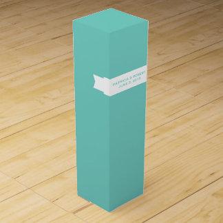有名な青|の結婚のワインの記念品 ワインギフトボックス