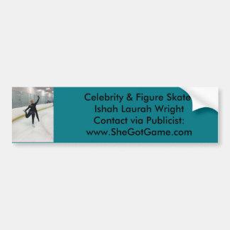 有名人及びIshah Laurahライトフィギュアスケート選手 バンパーステッカー