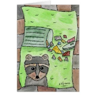 有害なアライグマ カード