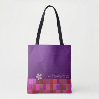 有害な-、ピンク紫色、ティール(緑がかった色) -ハンドバッグ トートバッグ