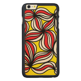 有徳の強力な自然与えること CarvedメープルiPhone 6 PLUS スリムケース