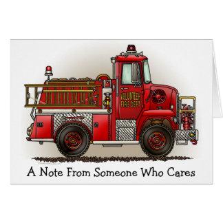 有志の普通消防車のメッセージカード カード