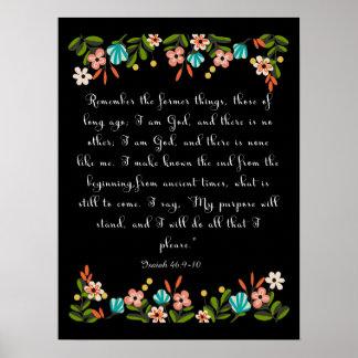 有望な聖書は芸術-アイザイアの46:9 -を10作詩します ポスター