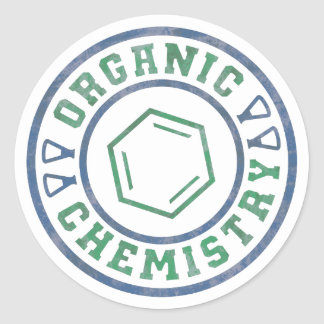 有機化学 丸形シールステッカー