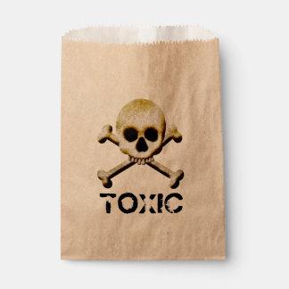 有毒なスカルおよび骨のトリック・オア・トリートハロウィン フェイバーバッグ