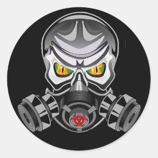 有毒なロゴのステッカー ラウンドシール