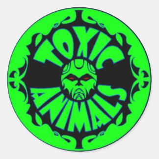 有毒な動物のロゴのステッカー ラウンドシール