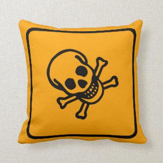 有毒な毒警告標識の装飾用クッション クッション