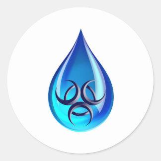 有毒な水低下 ラウンドシール