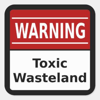 有毒な荒れ地のステッカー スクエアシール