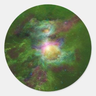 有毒な銀河系の情報通の宇宙の芸術 ラウンドシール