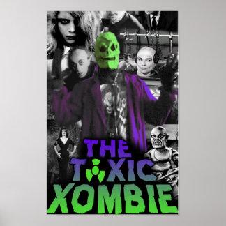 有毒なXombieのコラージュPin ポスター