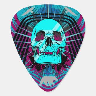 有毒物質によって飛ぶスカルのグラフィックのギターピック ギター つめ