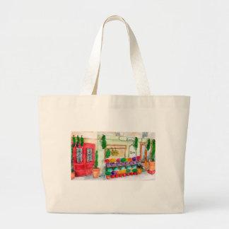 有用なトートバックのパリの花屋 ラージトートバッグ