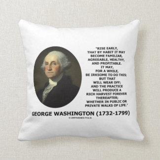 有益なジョージ・ワシントンの上昇の早い習慣 クッション