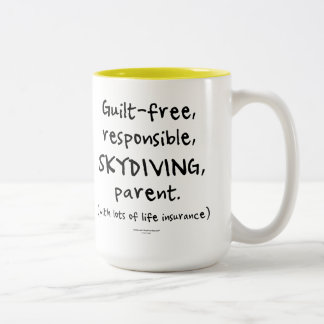 有罪なしのSKYDIVING親 ツートーンマグカップ