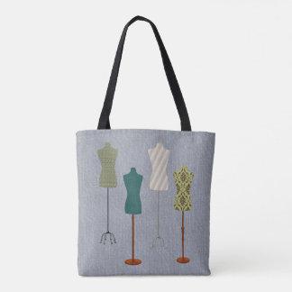 服の型枠のデザイン トートバッグ