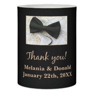 服の結婚式の引き出物のちょうネクタイ LEDキャンドル
