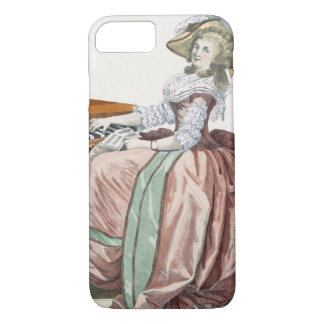 服のVirtuosa泥灰土が付いている「l'Anglaise」 iPhone 8/7ケース