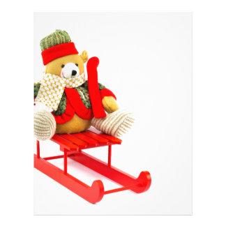 服を着せられたクリスマスは赤い木のそりに関係します レターヘッド