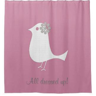 服を着るカスタムなラベンダーのピンクの恋人 シャワーカーテン