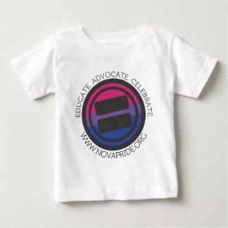 服装-円形の文字が付いている大きい両性の円形 ベビーTシャツ