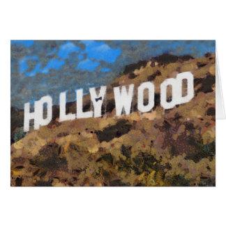 服Bowtieが付いているデジタルアートワークのハリウッドの印 カード