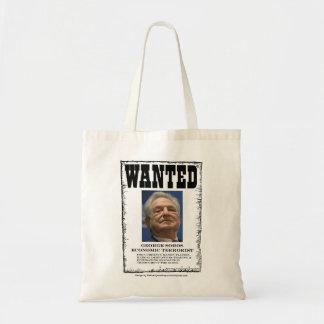 望まれたジョージ・ソロスの経済的なテロリストのトートバック トートバッグ