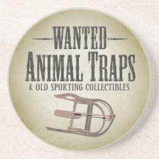望まれたポスター-古い狩りは収集品を引っ掛けます コースター