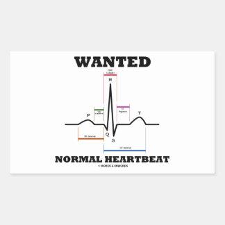 望まれた正常なHearbeat (ECG/EKGの心電図) 長方形シールステッカー