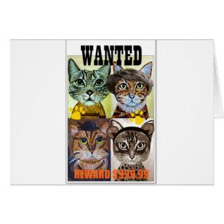 望まれた猫ポスター芸術 カード