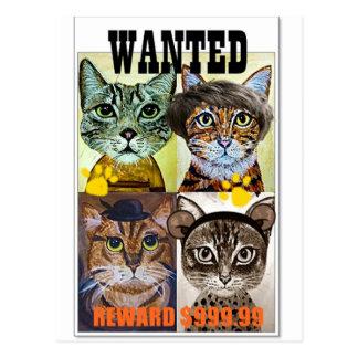望まれた猫ポスター芸術 ポストカード