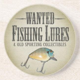 望まれる: 古い魚釣りの魅惑 コースター