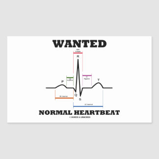 望まれる 正常 Hearbeat (ECG/EKG 心電図) 長方形シールステッカー