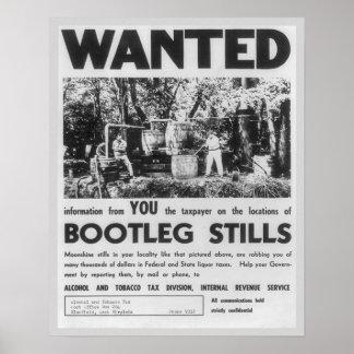 望まれる: 禁制品の酒造機1949年。 ヴィンテージ ポスター
