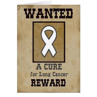 望まれる: 肺癌のための治療 グリーティングカード