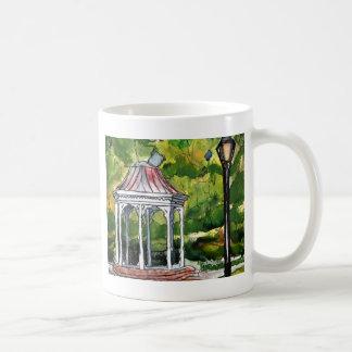 望楼の水彩画の絵画の庭の自然 コーヒーマグカップ