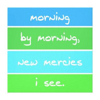 朝のキリスト教の歌の叙情詩によるモダンな朝 キャンバスプリント