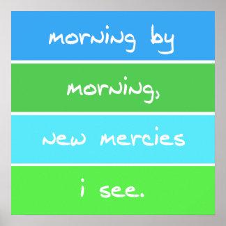朝のキリスト教の歌の叙情詩によるモダンな朝 ポスター